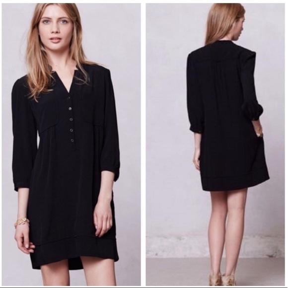 Anthropologie Dresses & Skirts - Anthropologie Maeve Taryn Crepe Shift Dress Size 4